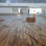 jual lantai kayu parket kempas per meter Bringin